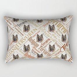 Belgian Tervuren Word Art Rectangular Pillow