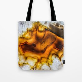 Honey Amber Agate frozen in time Tote Bag