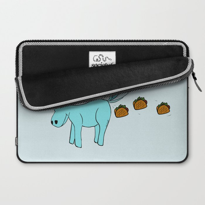 Unicorn Pooping Tacos Laptop Sleeve