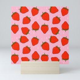 Strawberry Print Mini Art Print