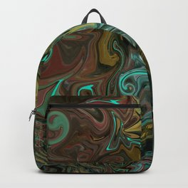 Abstract Painting with an Aqua Light Backpack