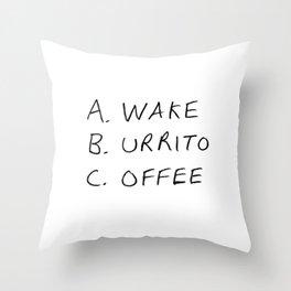 Breakfast Coffee ABC Throw Pillow