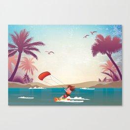 Kite surfer Woman Theme Canvas Print