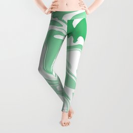 Green Abstract Ink Leggings