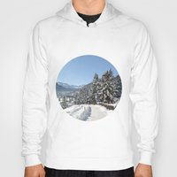 switzerland Hoodies featuring Winter in Switzerland by Design Windmill