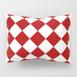 Red and white square pattern Pillow Sham