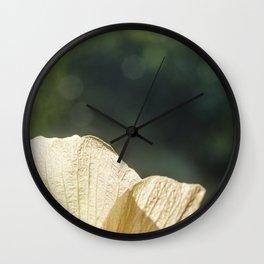 Petal Peek Wall Clock