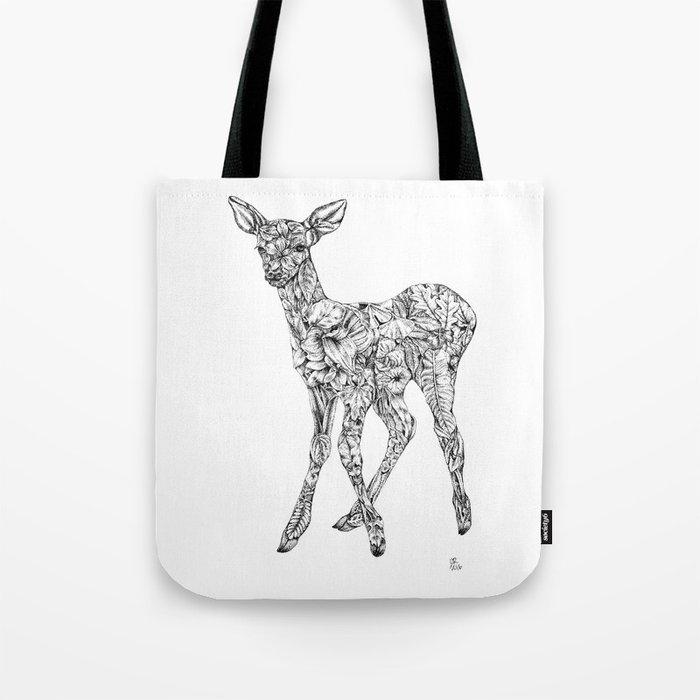 Leafy Deer Tote Bag