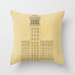 Sears Merchandise Tower Throw Pillow