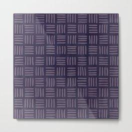 Tribal Thatch in Purple Metal Print