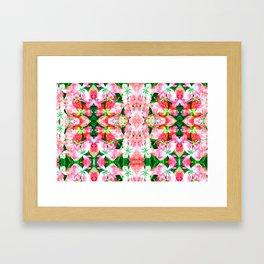 flower Mosaic  Framed Art Print
