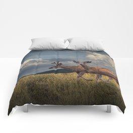 Mule Deer with Velvet Antlers in the Bighorn Mountains Comforters