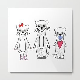 Ferret Family Metal Print