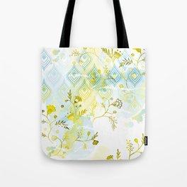 Oasis Floral Pattern Tote Bag