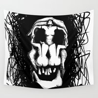 salvador dali Wall Tapestries featuring Dali by @Subliminal_society
