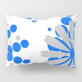 Blue Grey Burst Pillow Sham