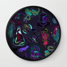 Neon Demons Wall Clock