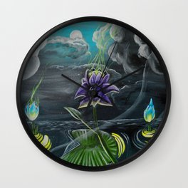 moonflowers Wall Clock