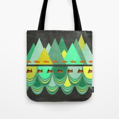 fishes which wanted to hike while cows wanted to swim Tote Bag