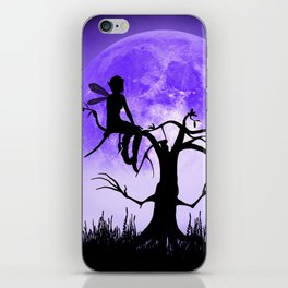 Moonlight Wondering Fairy - Purple iPhone Skin