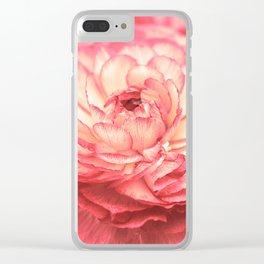 Vintage Ranunculus 9 Clear iPhone Case