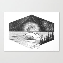 Beneath the stars Canvas Print