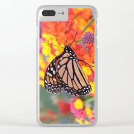 Monarch Feeding on Lantana Clear iPhone Case