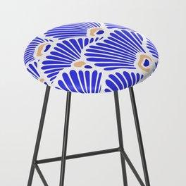 Blue Shell Pattern Bar Stool