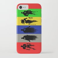 justice league iPhone & iPod Cases featuring Justice Silhouettes by iankingart