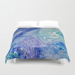 Water Scarab Fossil Under the Ocean, Environmental Duvet Cover