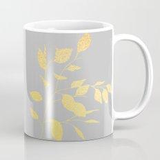 Leaves Gold on Grey Mug