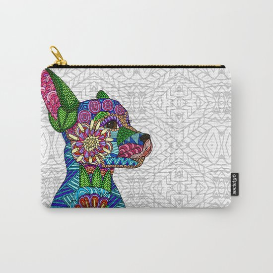 Folk Art Puppy Carry-All Pouch