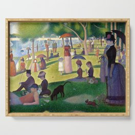 """Georges Seurat """"A Sunday Afternoon on the Island of La Grande Jatte"""" Serving Tray"""