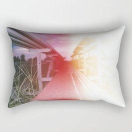 Bleached Bleachers Rectangular Pillow