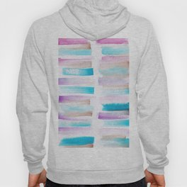 4| 181101 Watercolour Palette Abstract Art | Lines | Stripes | Hoody