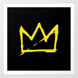 Basquiat crown Art Print
