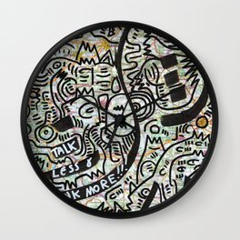 Map Graffiti Street Art Wall Clock