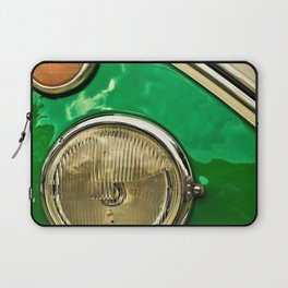 Vintage 21-window classic in green wall art - photograph Laptop Sleeve
