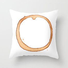 Vector coffee ring Throw Pillow
