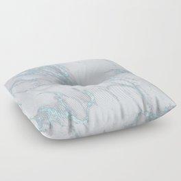 Marble Love Sea Blue Metallic Floor Pillow