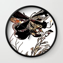 On Butterfly Wings Wall Clock