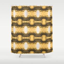 GoldGlowers Shower Curtain