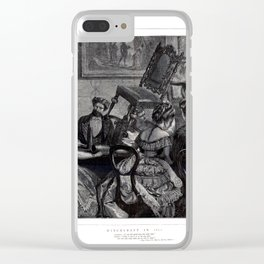 Witchcraft in 1871 an exciting seance old Art Clear iPhone Case