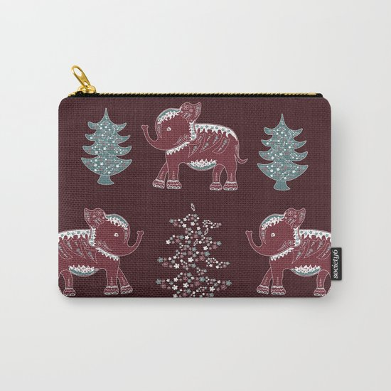 Elephants, trees and flowers Carry-All Pouch