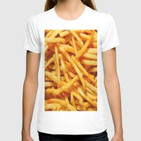 french fries T-shirts featuring French Fries by I Love Decor