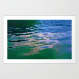 Lakeside abstract Art Print