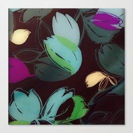 Satin Floral 2 Canvas Print