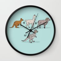 math Wall Clocks featuring Tauntaun Math by Otter Illustration