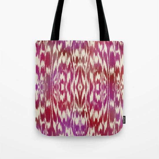 Ikat: Red, Pink Multi Tote Bag