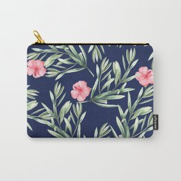 Delicate Hibiscus Blue Carry-All Pouch